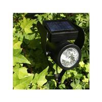 Projecteur spot solaire Power Spot Medium noir 50 lumens