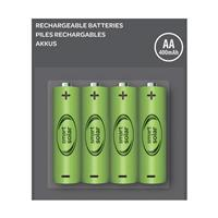 Pack 4 x batterie rechargeable 1,2 V NiMh AA 600 mAh