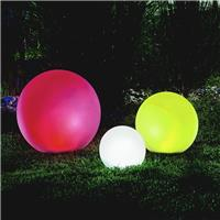 Lot de 3 x boule solaire multicolore 20,30, 40 cm