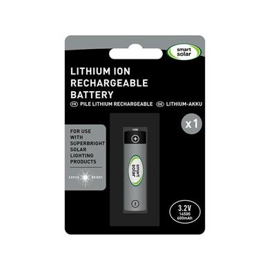 Batterie Lithium rechargeable 14500 3,2 V 600 mAh